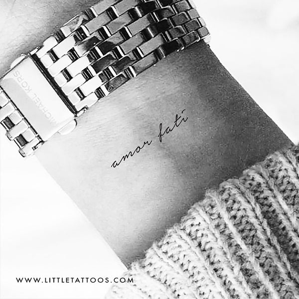 Small Amor Fati Temporary Tattoo - Set of 3