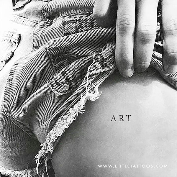 'ART' Temporary Tattoo - Set of 3