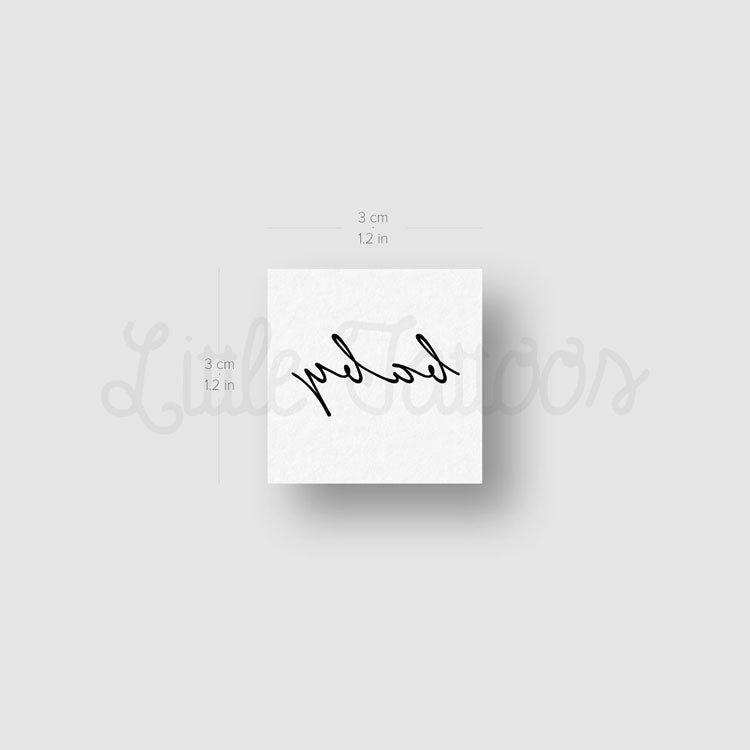'Baby' Temporary Tattoo - Set of 3