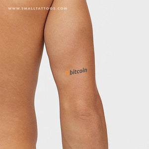 Bitcoin Wordmark Temporary Tattoo (Set of 3)