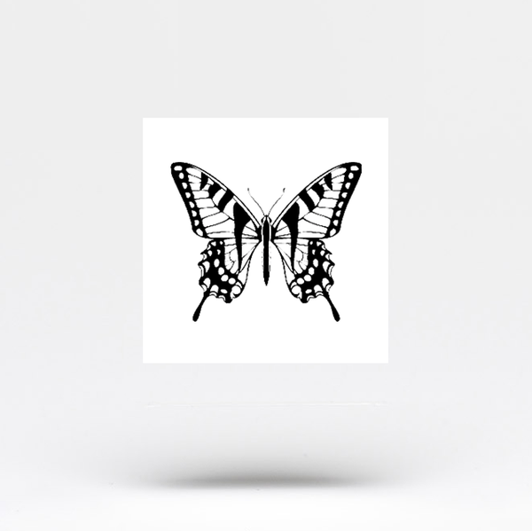 Swallowtail Butterfly Temporary Tattoo - Set of 3