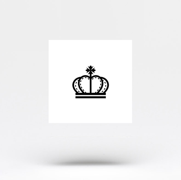 King Crown Temporary Tattoo - Set of 3