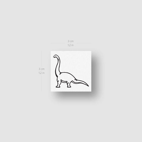 Diplodocus Dinosaur Temporary Tattoo - Set of 3