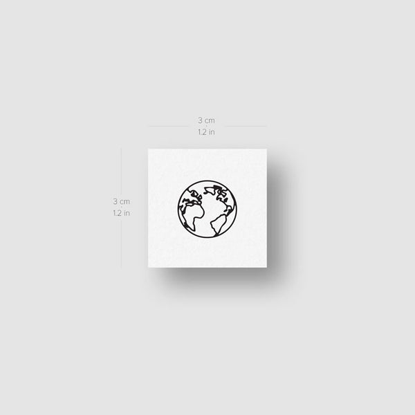Small Planet Earth Temporary Tattoos - Set of 4x2