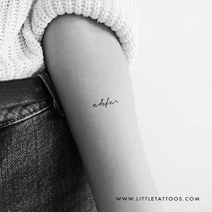 'ehfar' Temporary Tattoo - Set of 3