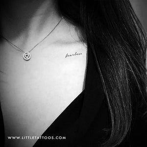 'Fearless' Temporary Tattoo - Set of 3