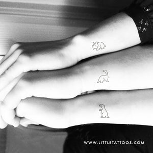 Matching Dinosaur Temporary Tattoos - Set of 3x2