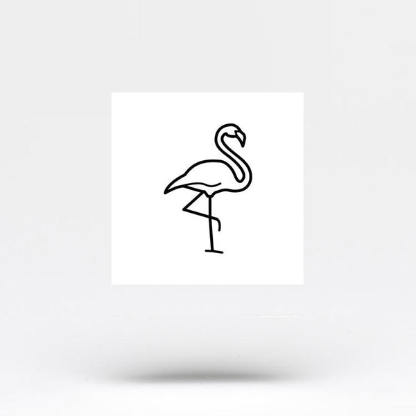 Flamingo Temporary Tattoo (Set of 3)
