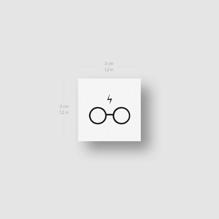 Harry's Glasses and Scar Temporary Tattoo - Set of 3