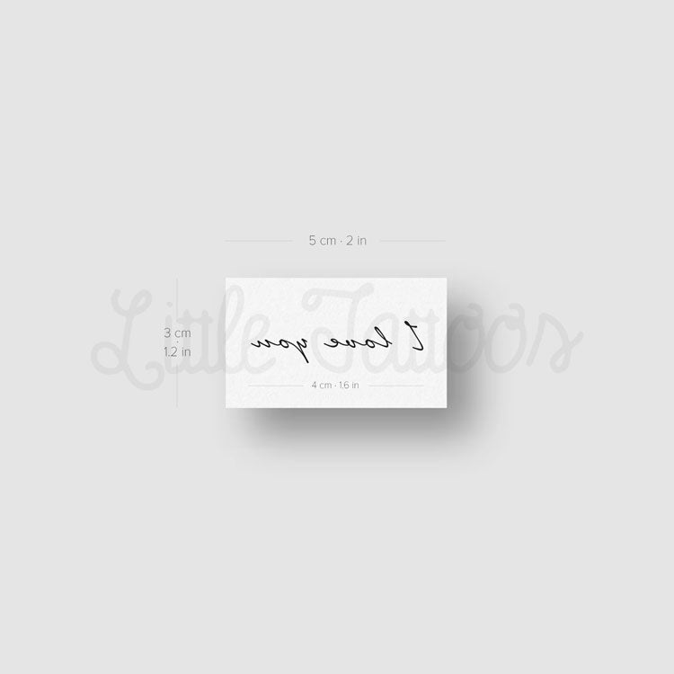 I Love You Temporary Tattoo - Set of 3
