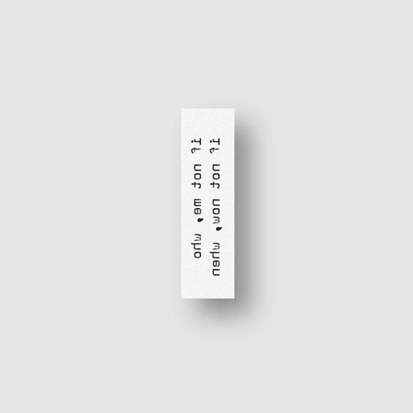 If Not Me Who If Not Now When Temporary Tattoo (Set of 3)
