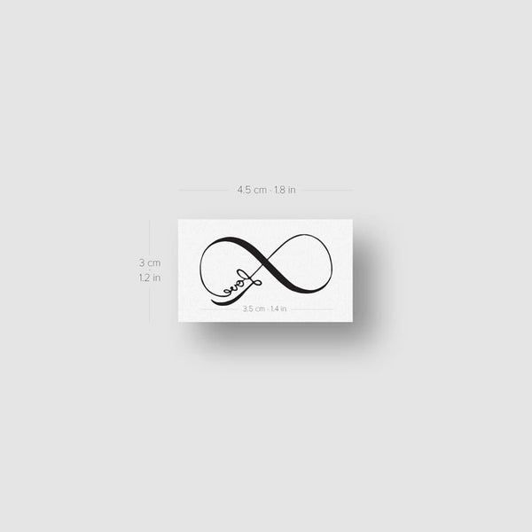 Love Infinity Symbol Temporary Tattoo - Set of 3