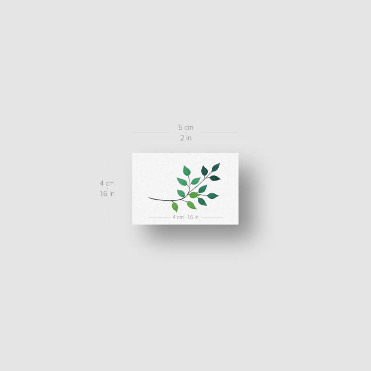 Leaves Temporary Tattoo by Zihee - Set of 3