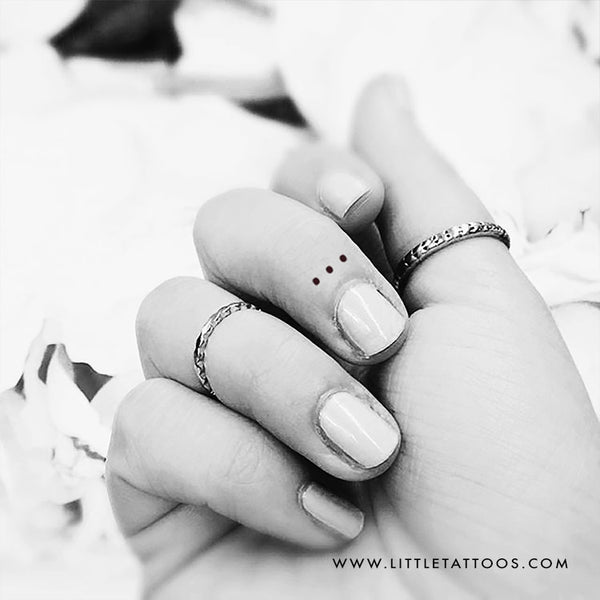 Three Tiny Dots Temporary Tattoo - Set of 3
