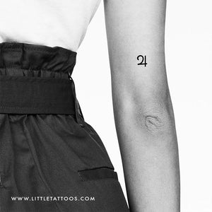 Jupiter Planetary Symbol Temporary Tattoo - Set of 3