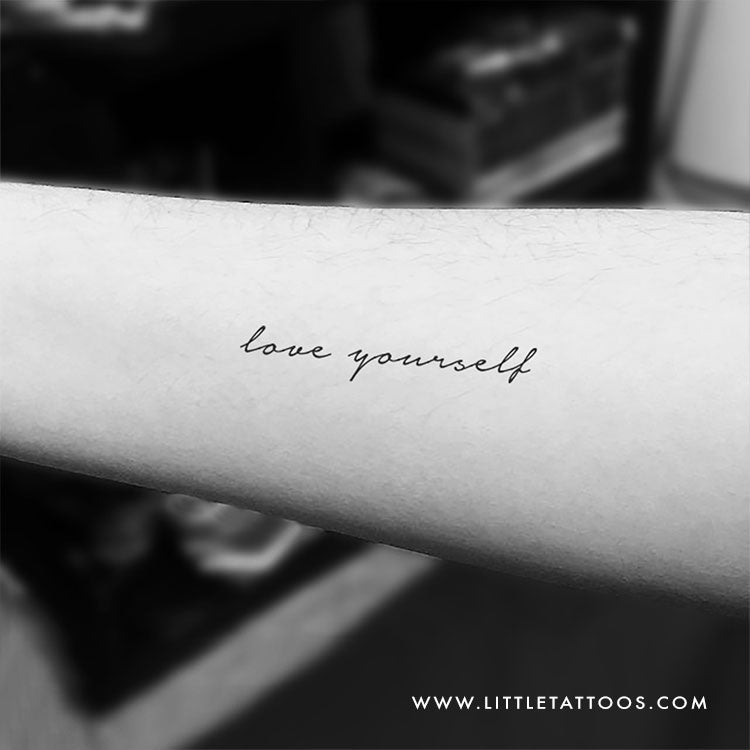 Love Yourself Temporary Tattoo - Set of 3