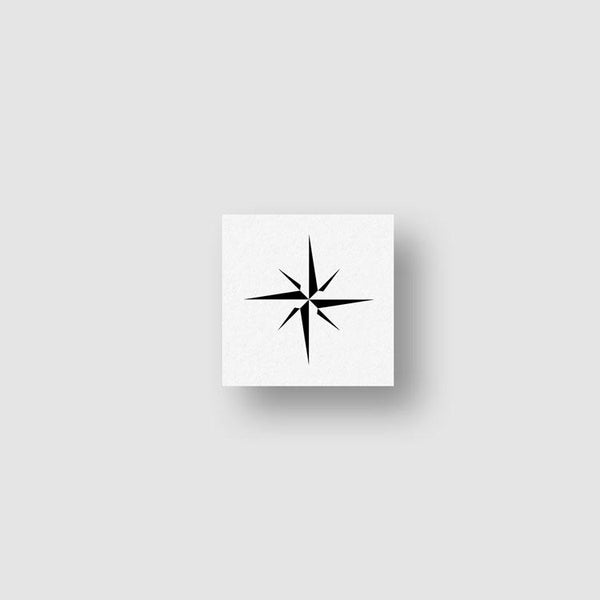 Minimalist Compass Temporary Tattoo - Set of 3
