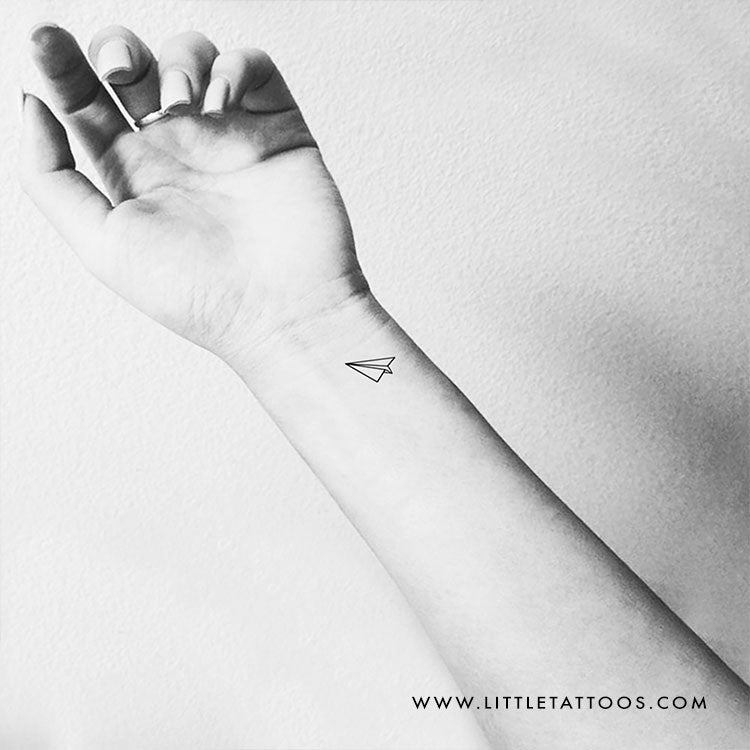 Paper Plane Temporary Tattoo - Set of 3