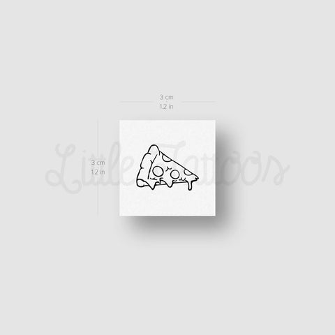 Slice of Pizza Temporary Tattoo - Set of 3