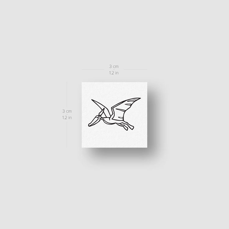 Pterosaur Temporary Tattoo