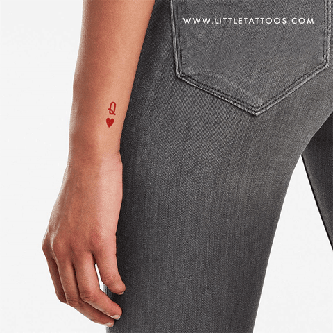 Queen of Hearts Temporary Tattoo (Set of 4)
