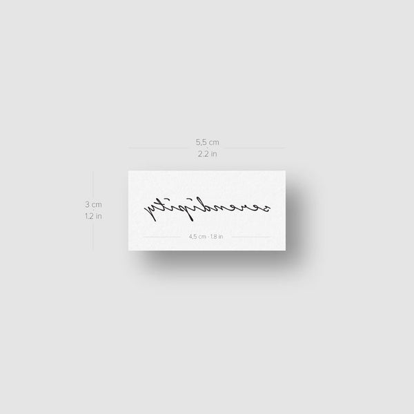 Serendipity Temporary Tattoo - Set of 3
