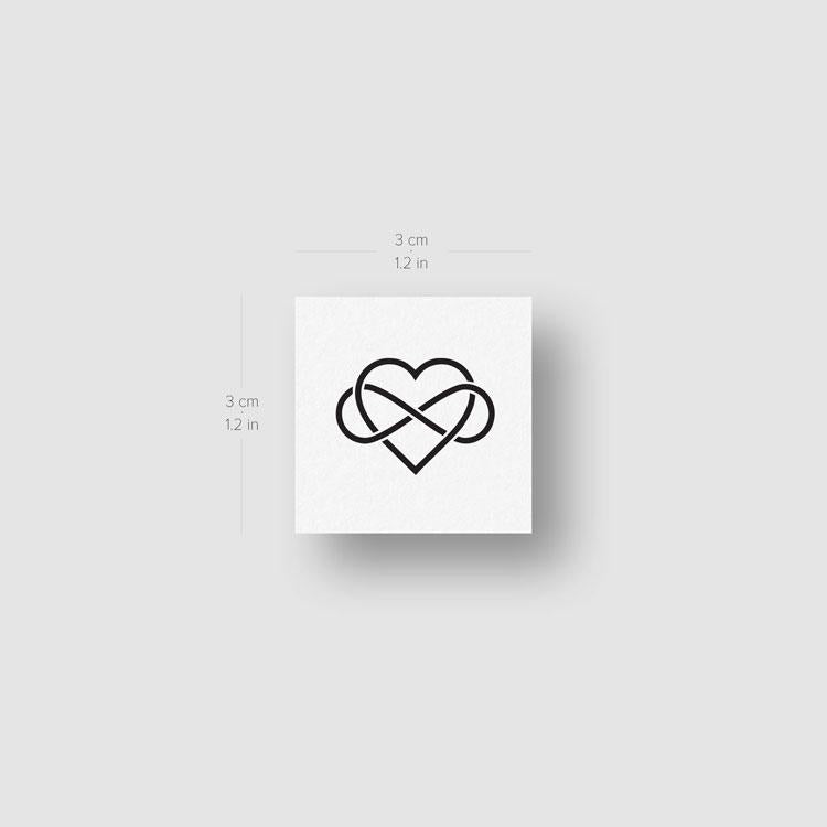 Heart And Infinity Temporary Tattoo - Set of 3