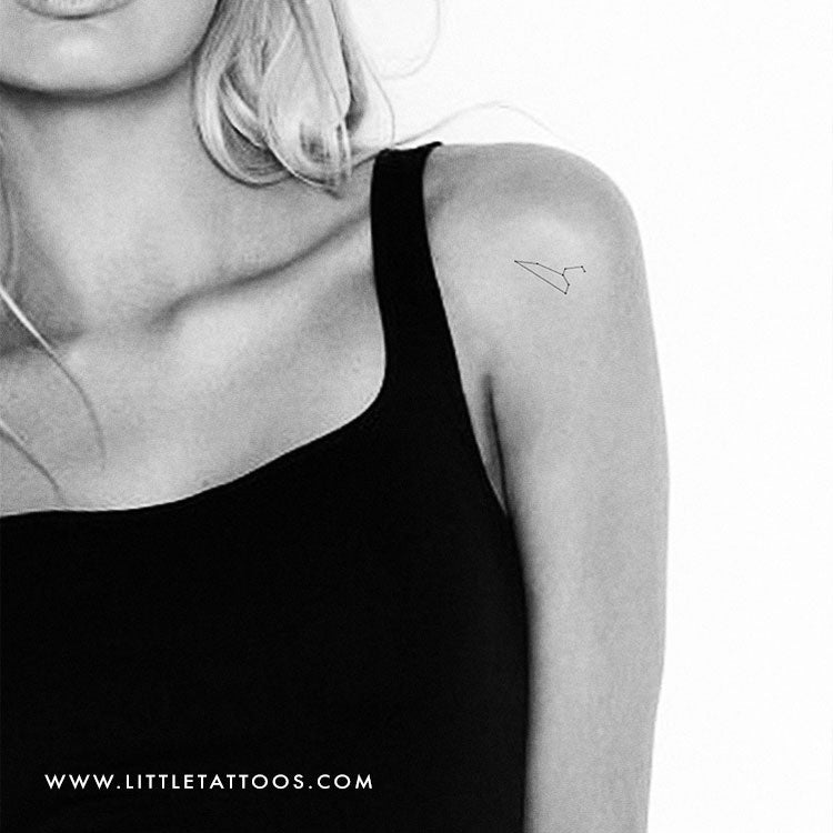 Small Leo Constellation Temporary Tattoo - Set of 3