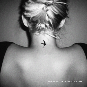 Swallow Temporary Tattoo - Set of 3
