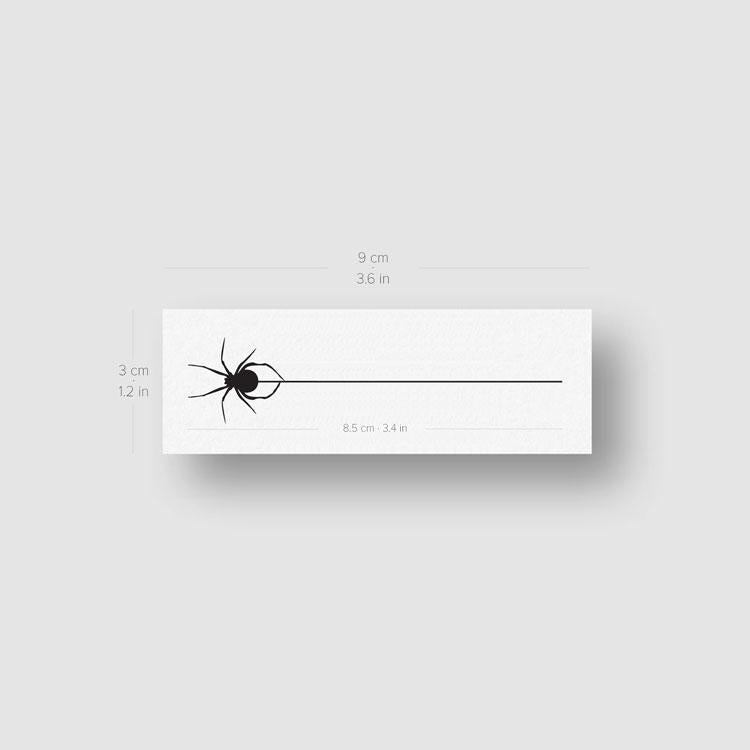 Hanging Spider Temporary Tattoo - Set of 3