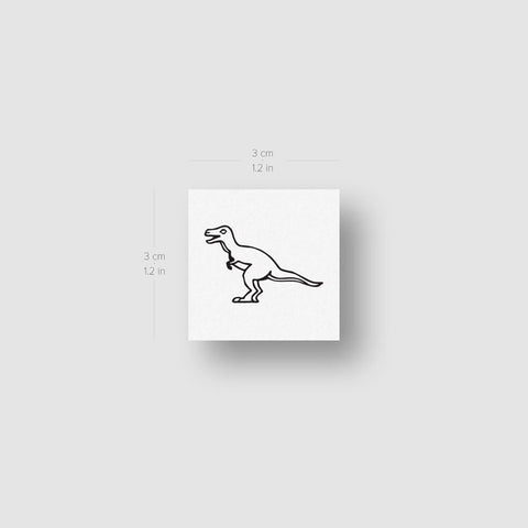 T-Rex Dinosaur Temporary Tattoo - Set of 3