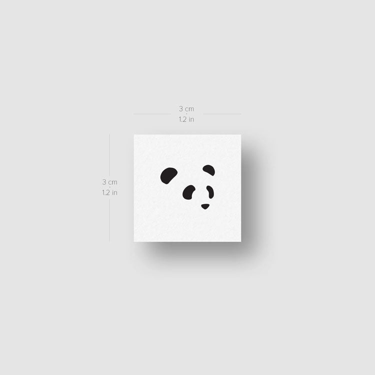 Panda Face Temporary Tattoo - Set of 3