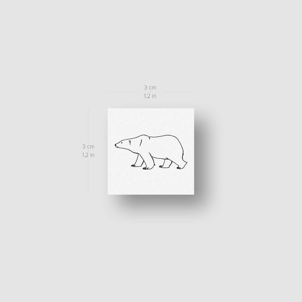 Polar Bear Temporary Tattoo - Set of 3