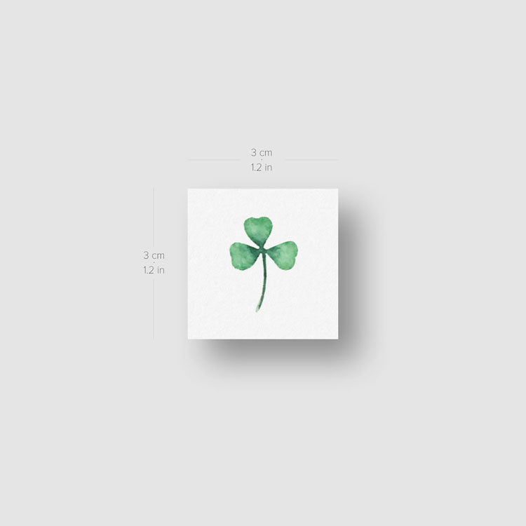 Three Leaf Clover Temporary Tattoo by Zihee - Set of 3