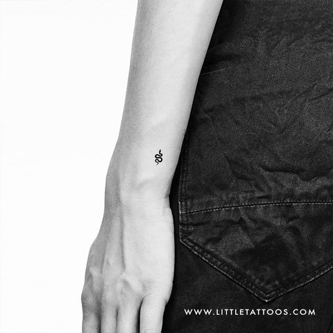 Tiny Snake Temporary Tattoo - Set of 3