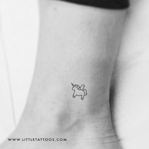 Minimalist Unicorn Temporary Tattoo - Set of 3