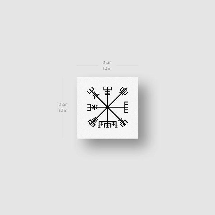 Vegvísir Temporary Tattoo - Set of 3