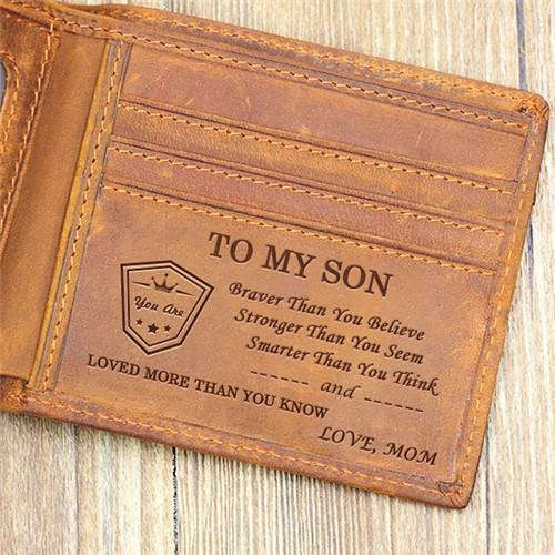 Mom To Son - Loved More Than You Know- Wallet