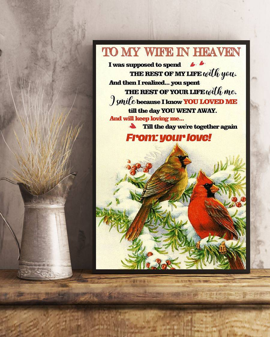 To My Wife In Heaven - Cardinal Poster