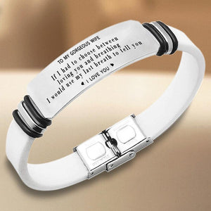To My Gorgeous Wife - I Love You - Bracelet