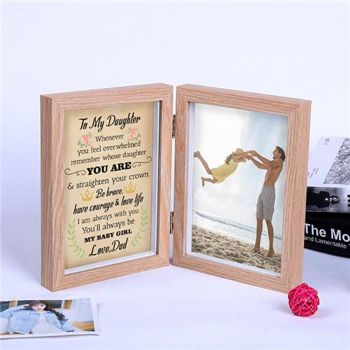 Dad To Daughter - Straighten Your Crown - Photo Frame