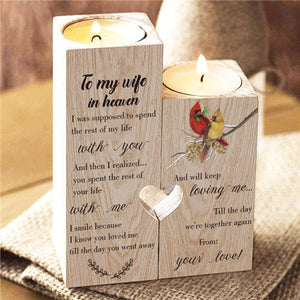 To My Wife In Heaven - Candle Holder