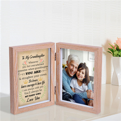 To My Granddaughter - Straighten Your Crown - Photo Frame