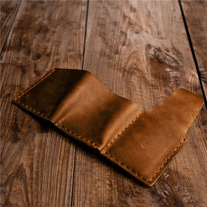 Mom To Son -You Will Never Lose- Genuine Leather Wallet