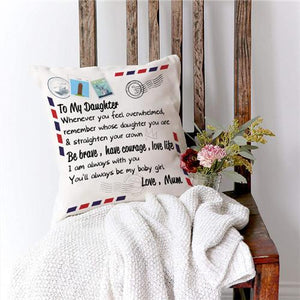 Mum To Daughter - Straighten Your Crown - Pillow Case🌙