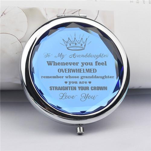 To My Granddaughter - Straighten Your Crown - Pocket Mirror