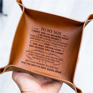 Dad To Son - Never Lose - Leather Valet Tray