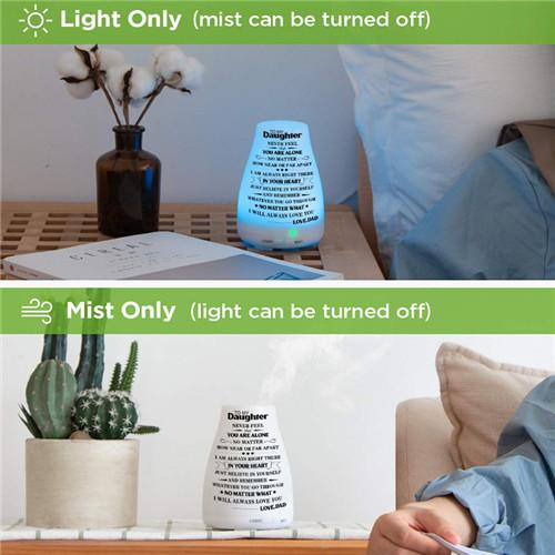 Dad To Daughter - You Will Never Feel Alone - Aroma Lamp