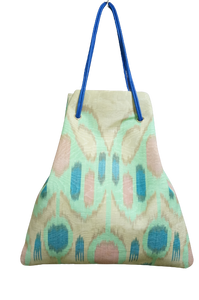 Adras Kinchaku Tote-bag ( green butterfly) 370
