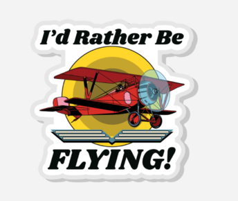 I'd Rather Be Flying - Biplane - Acrylic Pin